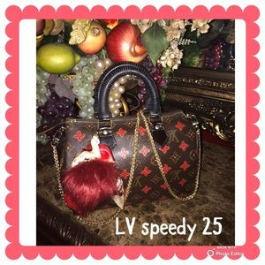 🌺👋 Auth- Louis Vuitton Speedy 25 (custom bag)